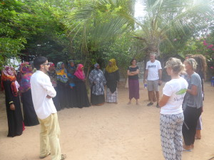 New volunteers get introduced to the teaching staff!